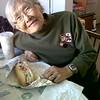 Grandma with Costco dog