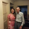 Cindy in Grandma Liles dress and Grandpa20131019