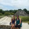 Suzy at Mayan ruin with Brooke