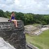 Suzy at Mayan ruin