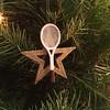 Christmas tennis ornament