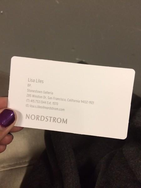 Lisa's business card