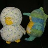 Susan crocheted bird-seahorse