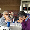 Costco dog1 - Grandma and Shirley eating