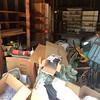 Gmas trash pile in garage