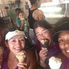 Beth-Syl-Jane-Tracy ice cream