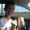Cindy with Fritos traveling