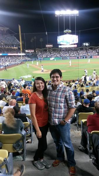 Cindy and Erick at baseball game