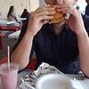 Erick eating Costco brisket beef