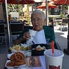 Grandma eating at The Habit 8-15-2017
