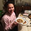 Cindy enjoying Italian food