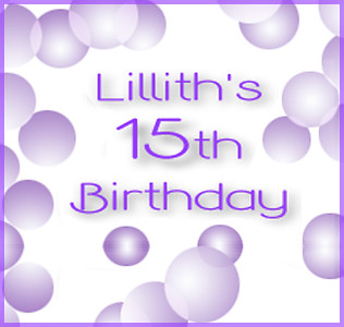 Lillith's Birthday - 2018