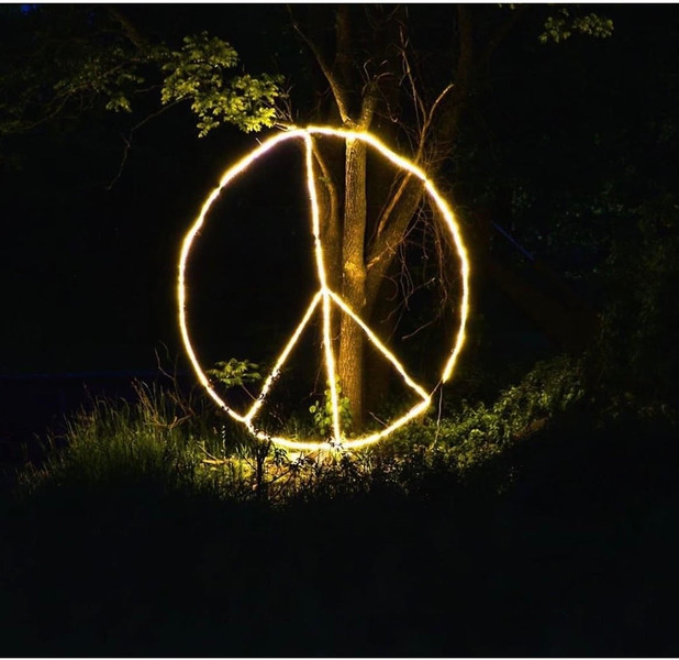 The famous peace sign at Lily Mack Farm
