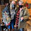 Tara and Sandra Bedard of Dracut find a perfect Christmas decoration.
