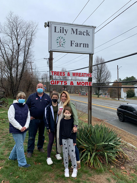 The Rich family of Lynnfield are ready to shop for the perfect Christmas tree.