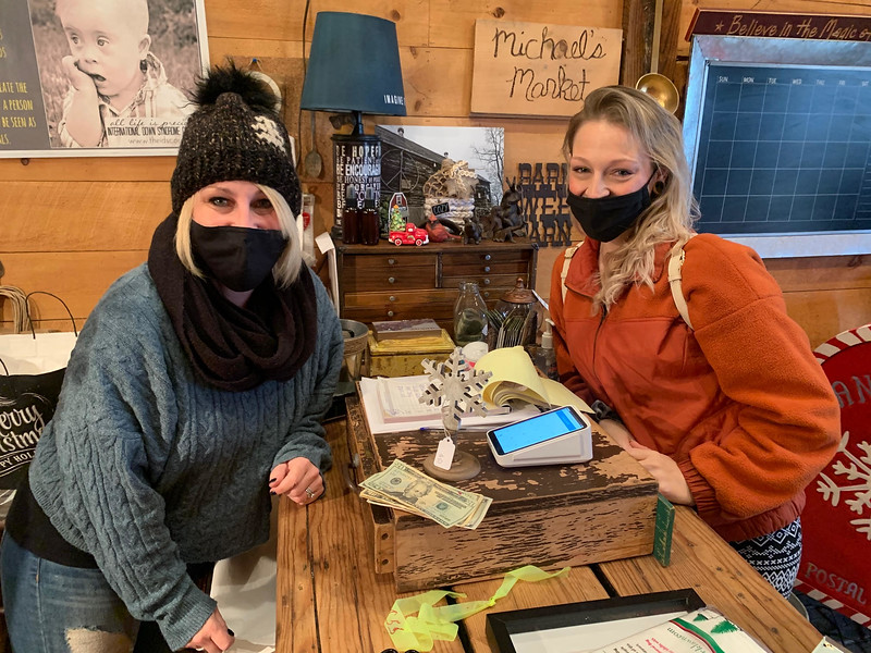 Lily Mack Farm owner Christi Guthrie of Dracut and Ashley Surette of Lowell