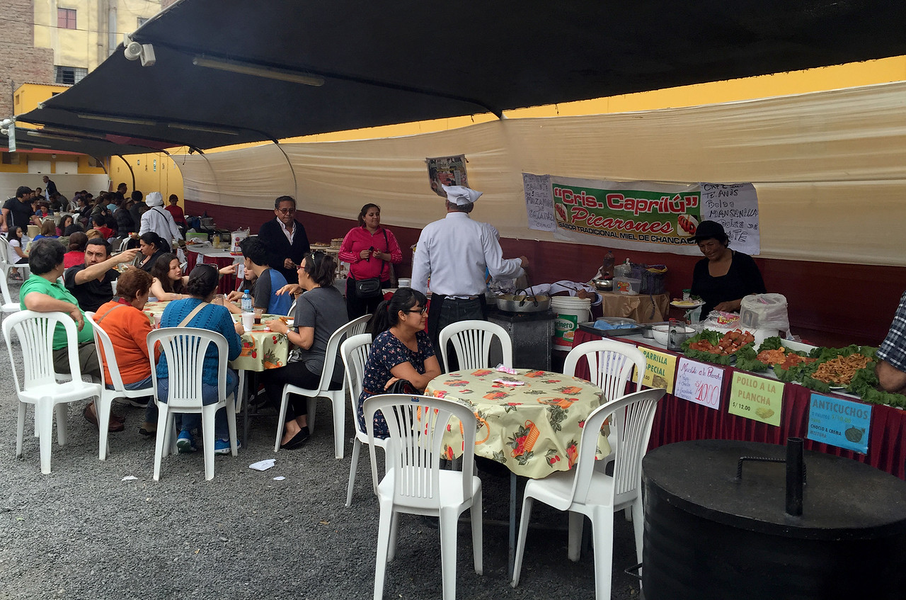 The Sunday food fair in Lima, Peru