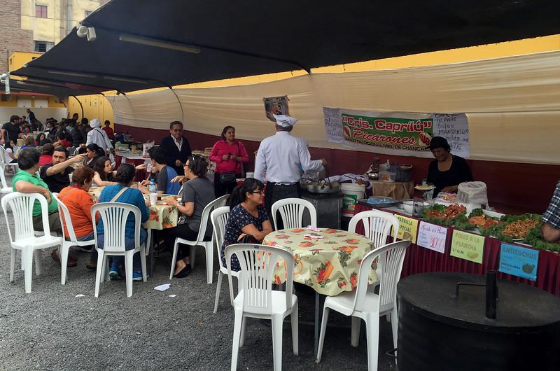 The Sunday food fair in Lima, Peru