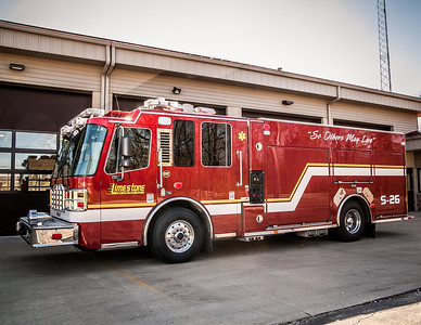 Limestone FD ~ Engine, Squad, & Ambulance plus Helmets