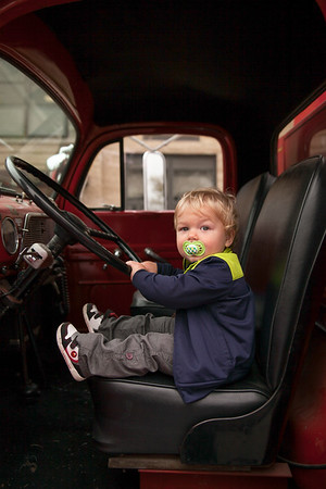 Little ones at the Fire House