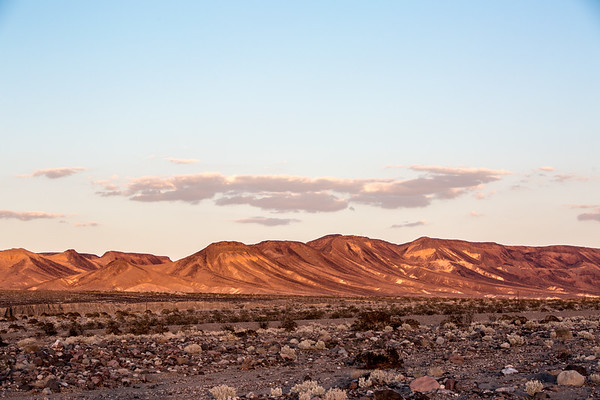Red Mountains at Dusk