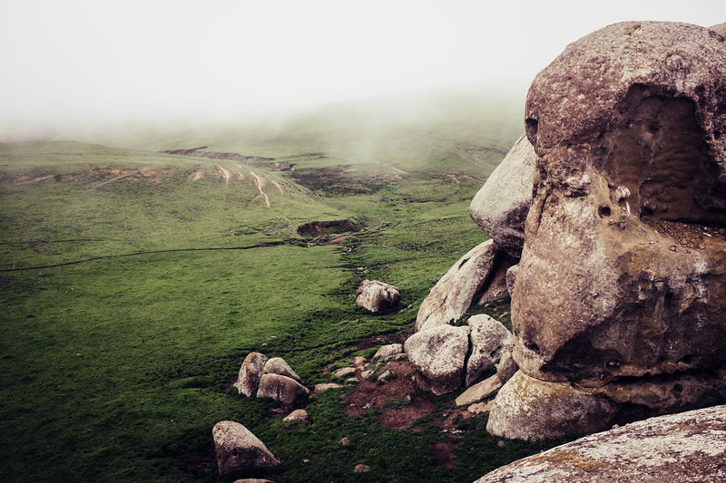 Elephant Rocks in Fog