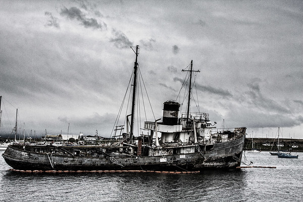 Wreckage in the Beagle Channel