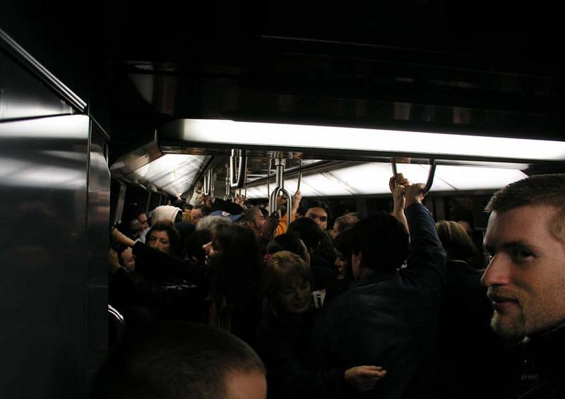"""""""Nuit Blanche #1""""<br /> Paris Metro<br /> Print Size: 13h x 19 w"""