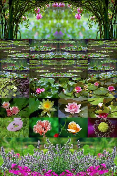 """""""Monet's Garden"""" <br /> <br /> Print size: 23w x 35h"""