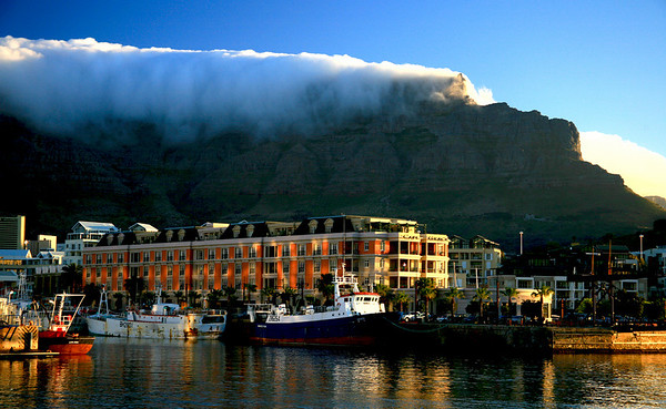 "Table Mountain and Cape Grace<br /> Cape Town, South Africa<br /> 13""x19"""