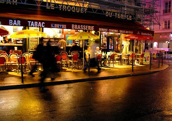 """Night in the Marais<br /> 13""""x19"""""""