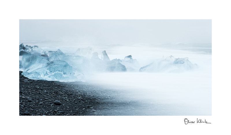 "Title: 	Weather Forecast<br /> Location:	Iceland<br /> Size (Framed):	8""x13""<br /> Price:	$100<br /> Description:	In slow motion, I will last forever. The storm is getting stronger, and I will disappear."