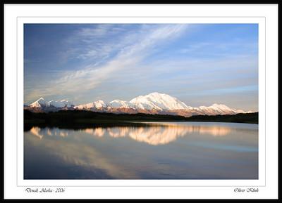 """Sunrise above the Alaska Range"""