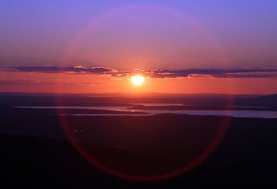 Sunset from Blue Hill stop (Cadillac Mountain).