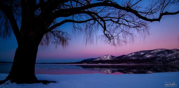 Violet sunset.