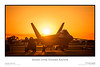 The sun sets behind a Lockheed Martin F-22 Raptor.<br /> <br /> Taken in Fort Worth, Texas.