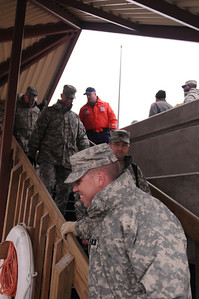 In this image released by the Texas Military Forces, members of Joint Task Force 71 met with the Coast Guard and emergency response organizations during a tour of the Port of Houston Tuesday, December 6, 2011. JTF-71.  (Photo/100th Mobile Public Affairs Detachment, Army National Guard Staff Sgt. Melissa Bright)