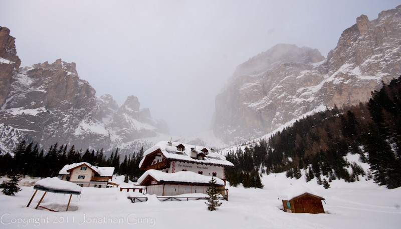 1200 - Private lodge in the Dolomites, Northern Italy.