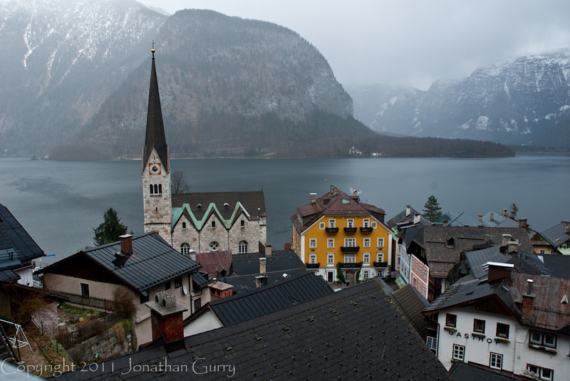 1098 - Hallstat, Austria on Lake Halstatt.
