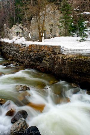 1135 - Old settler dwelling.  Big Cottonwood Creek.  Big Cottonwood Canyon, Utah.