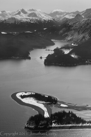 1306 - Chugach Mountains from the air.  Homer, Alaska.