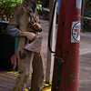 1241 - Statue of a gas attendant and old gas pump.  Hanapepe, Kauai, Hawaii.