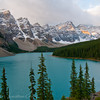 1263 - Saint Mary Lake in the Valley of the 10 Peaks.  Banff National Park, Alberta, Canada.
