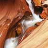 1018 - Waterway in the desert rock.  Southern Utah.