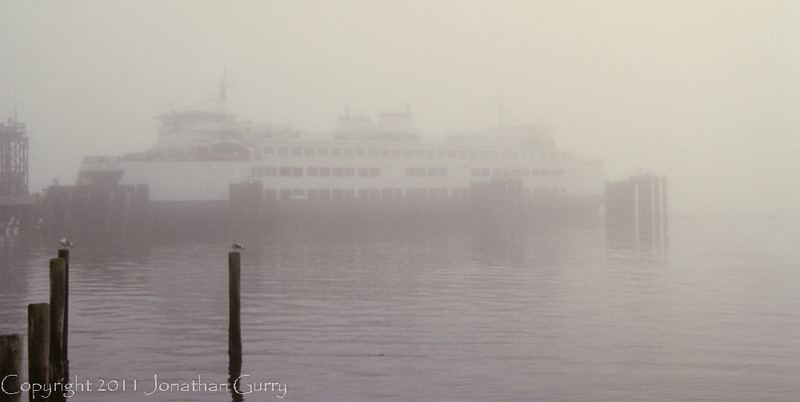 1022 - Ferry at dock in Clinton, Whidbey Island, Washington.