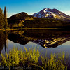 1028 - South Sister reflected in Sparks Lake.  Three Sisters Wilderness, Oregon.