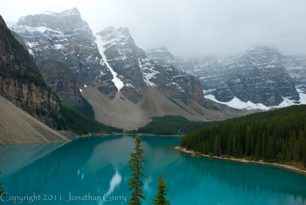 1269 - Saint Mary Lake in the Valley of the 10 Peaks.  Banff National Park, Alberta, Canada.