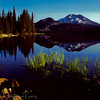 1051 - South Sister reflected in Sparks Lake.  Three Sisters Wilderness, Oregon.