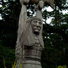 1146 - Native Totems in honor of the plentiful fishing.  Deception Pass, Washington.