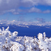 1013 - Lake Tahoe from a surrounding peak of the Sierra Nevadas, California.